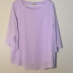 Apt. 9 Lilac 3/4 sleeve chiffon style blouse XXL